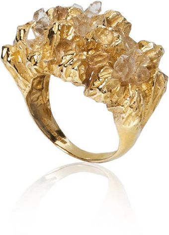 Niza Huang Under Earth Cocktail Gold Ring - Lyst