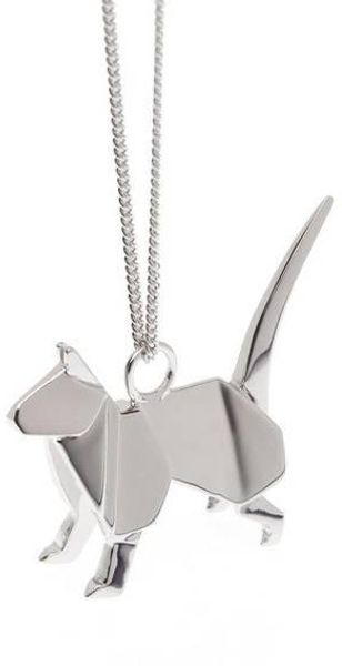 Origami Jewellery Necklace Cat - Lyst