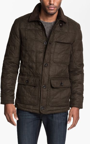 Rainforest Quilted Down Jacket In Brown For Men Fir Lyst