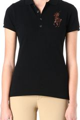 Ralph Lauren Beaded Crest Polo Shirt - Lyst