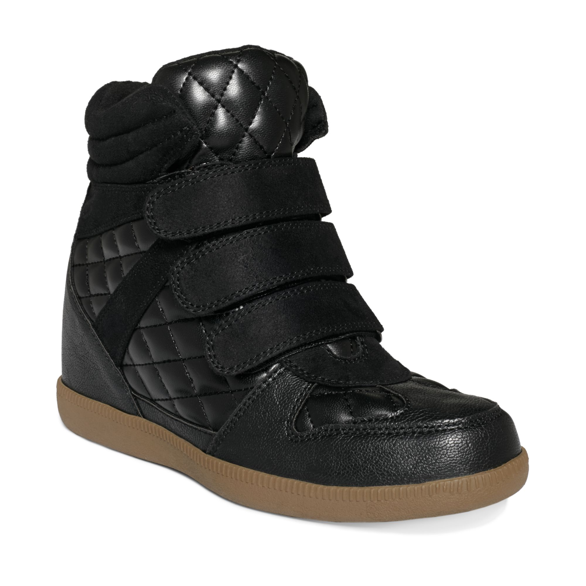 report leif quilted wedge sneakers in black lyst