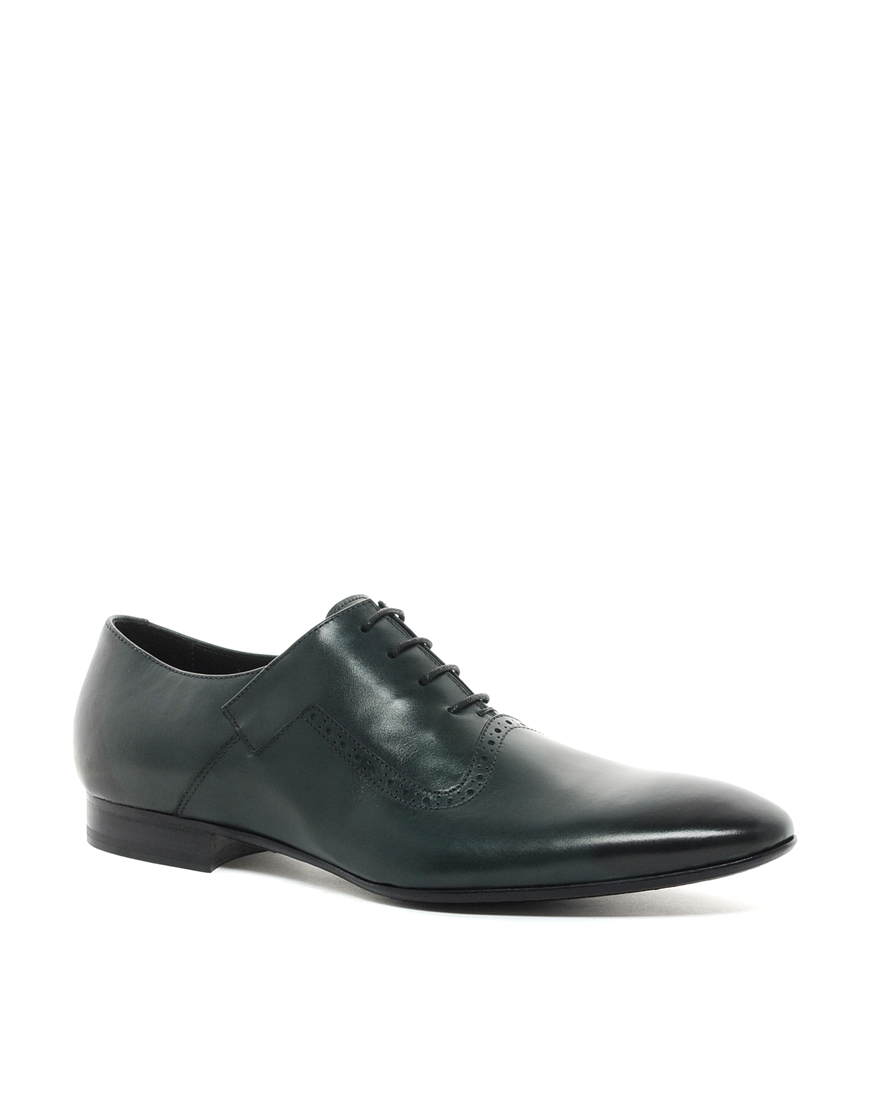 Fred Perry Rolando Sturlini Oxford Leather Shoes In Green For Men   Lyst