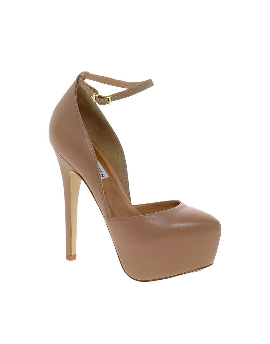 Lyst Steve Madden Deeny Leather Ankle Strap Heeled Shoes