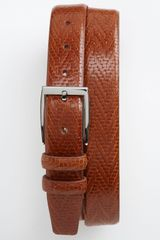 Tommy Bahama Basketweave Embossed Leather Belt - Lyst