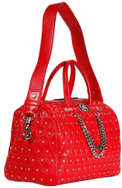 Versace Bag Signature Trunk Studs In Red Lyst