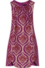 Anna Sui Metallic Jacquard Mini Dress - Lyst