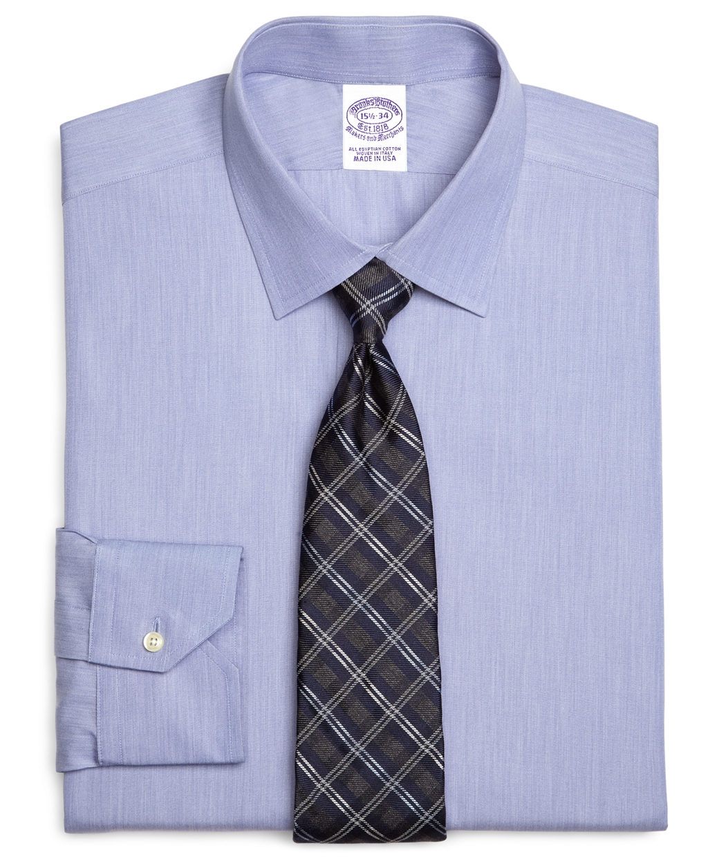 Lyst brooks brothers egyptian cotton regular fit spread for Mens egyptian cotton dress shirts