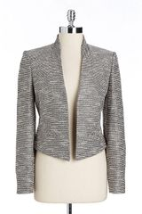 Calvin Klein Metallic Tweed Openfront Jacket - Lyst