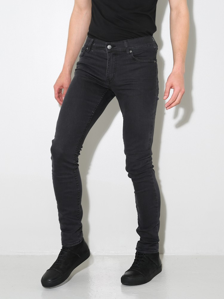 lyst cheap monday tight jeans grey star in gray for men. Black Bedroom Furniture Sets. Home Design Ideas