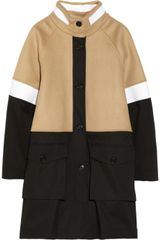 DKNY Neoprene Stretch cotton and Wool blend Coat - Lyst