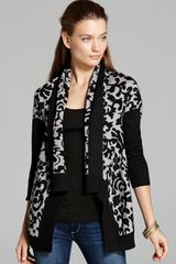 DKNY Solid Sleeve Brocade Cozy Cardigan - Lyst