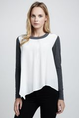 Elizabeth And James Leslie Knitgeorgette Top - Lyst