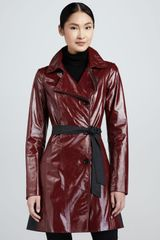 Lafayette 148 New York Leather Trench Coat - Lyst