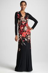 Melissa Masse Poppy Print Maxi Dress - Lyst