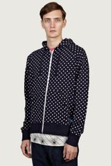Penfield Mens Polka Dot Temperton Hooded Zip-through Sweatshirt - Lyst