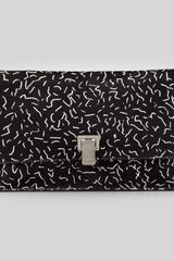 Proenza Schouler Small Printed Calf Hair Lunch Bag Clutch Black - Lyst