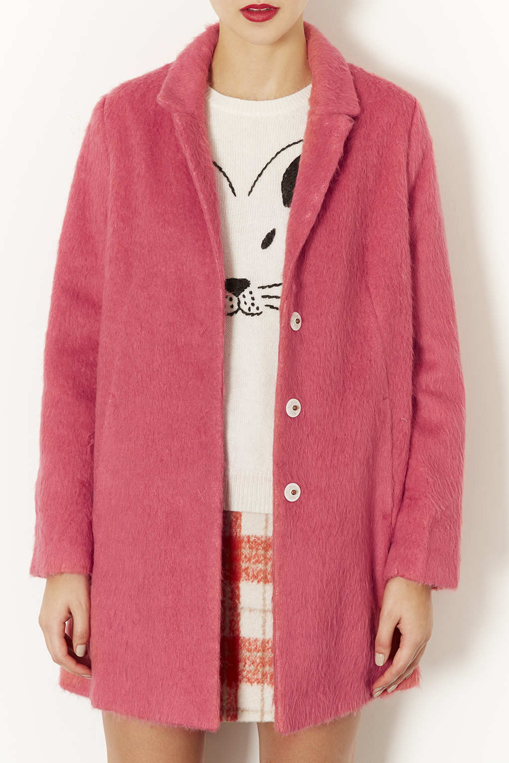 Pink Fur Coat Topshop | Down Coat