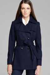 Via Spiga Scarpa Double Breasted Wool Blend Coat - Lyst