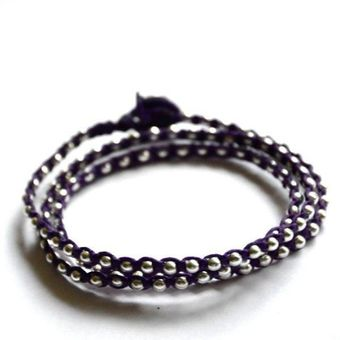 Vivien Frank Designs Triple One After The Other Plum Wrap Bead Bracelet - Lyst