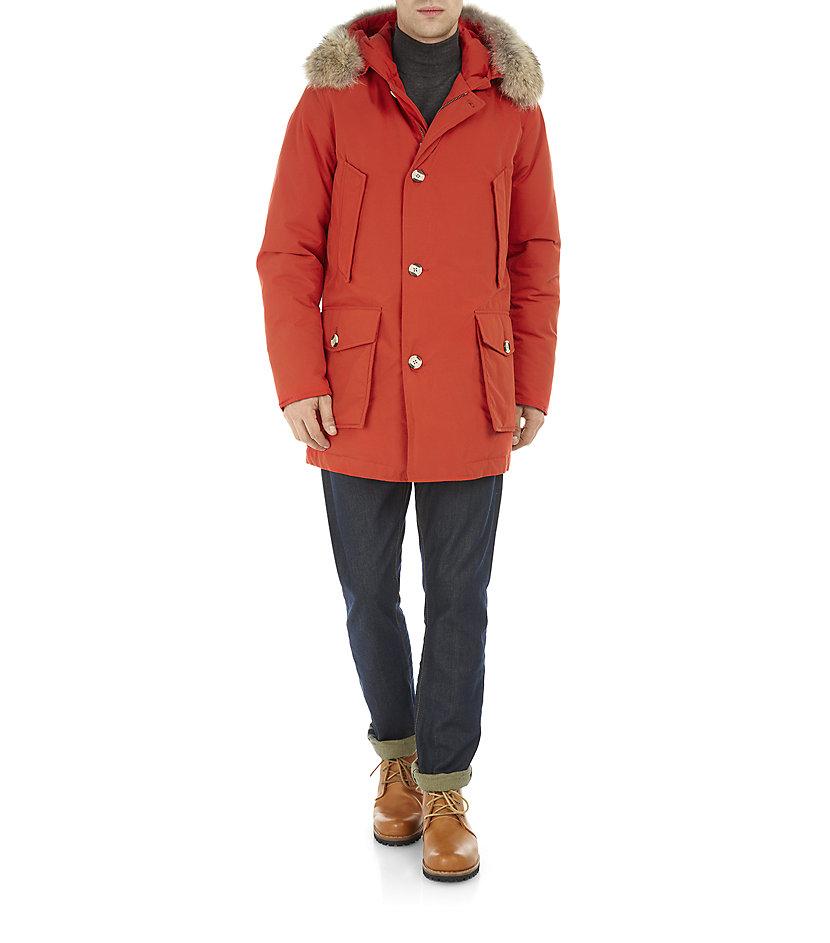 Arctic For Parka Woolrich In Orange Byrd Cloth Men Lyst YZwBwEq