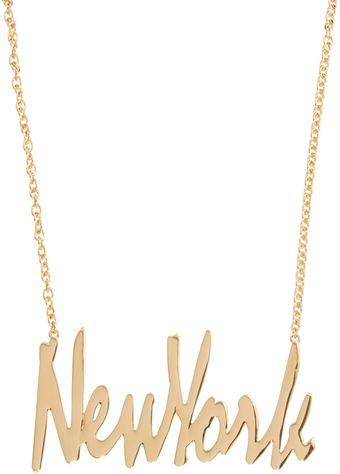 Asos New York Necklace - Lyst