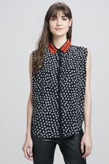 Elizabeth And James Julian Beadcollar Blouse - Lyst