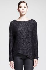 Helmut Helmut Lang Flecked Metallic Asymmetric Sweater - Lyst