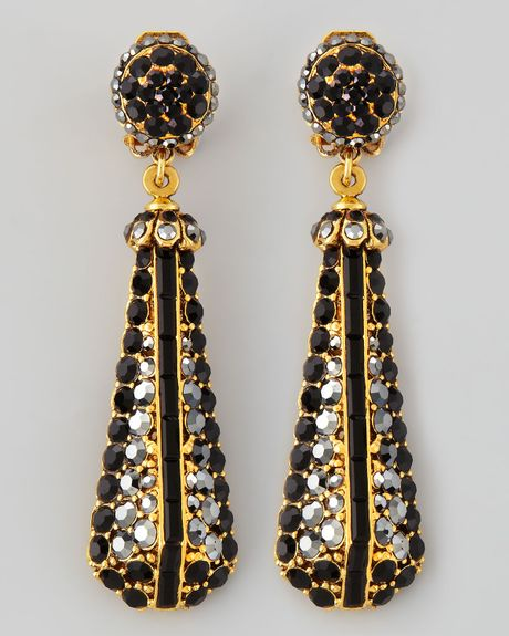jose barrera black pave goldplate drop