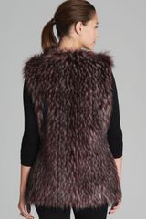 Via Spiga Parma Collarless Faux Fur Vest - Lyst