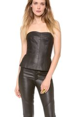 Yigal Azrouel Leather Bustier - Lyst