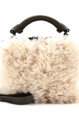 3.1 Phillip Lim Ryder Small Zip Leather Shoulder Bag with Shearling - Lyst