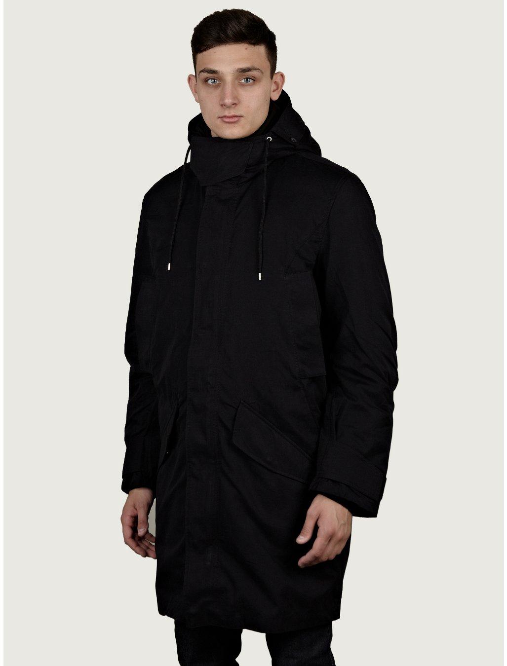 Acne mens vancouver parka coat in black for men lyst