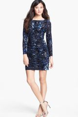 Aidan Mattox Burnout Velvet Dress - Lyst
