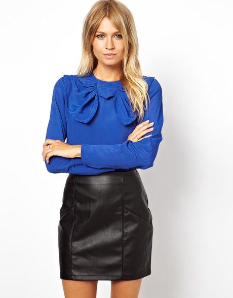 Zara Cobalt Blue Blouse 12