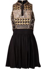 Balmain Embroidered Minidress - Lyst