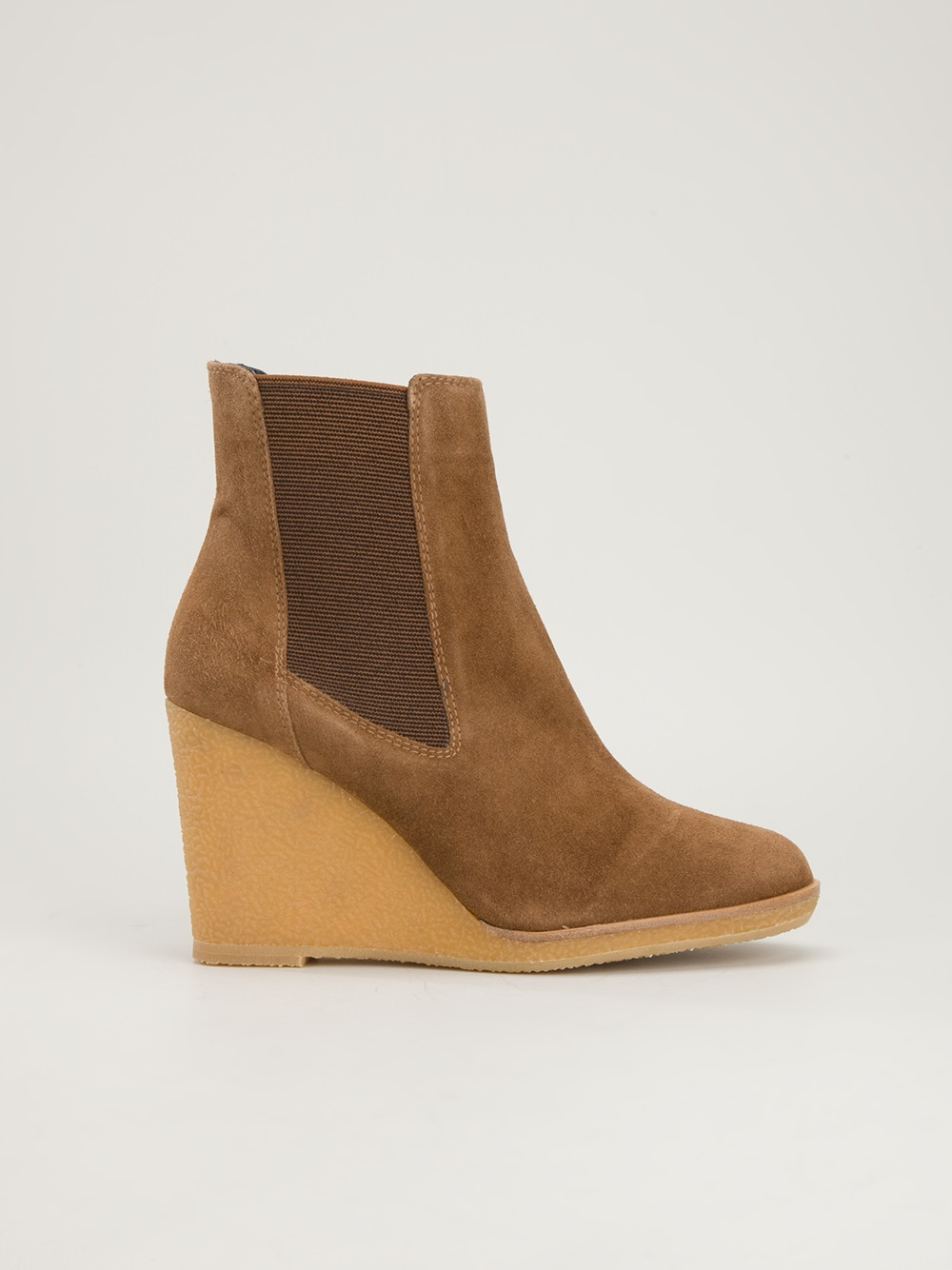 castaner wedge ankle boot in brown lyst