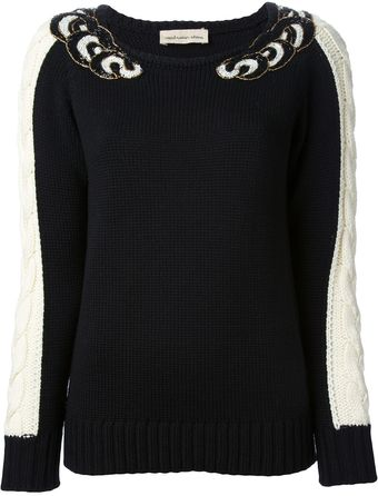 Coast + Weber + Ahaus Bead Embellished Sweater - Lyst