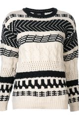Cut25 Arrow Cable Chunky Sweater - Lyst