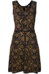 Cut25 Military Jacquard Dress - Lyst