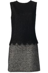 Dolce & Gabbana Lace Detail Shift Dress - Lyst