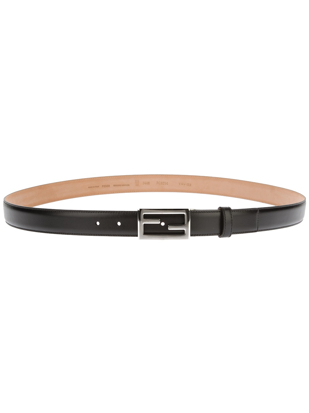 fendi logo buckle belt in black for men lyst