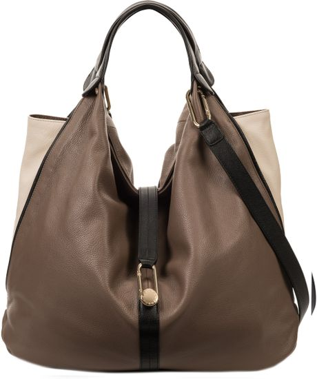 Furla Elisabeth Buckle Hobo Bag in Brown