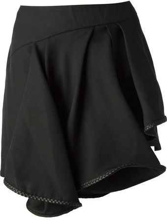 Jay Ahr Ruffled Mini Skirt - Lyst