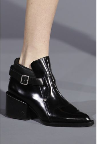Jil Sander Kent Leather Ankle Boots - Lyst