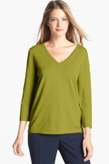 Jones New York V-neck Pullover - Lyst