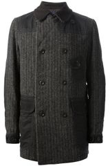 Junya Watanabe Comme Des Garcons Man Ribbed Double Breasted Coat - Lyst