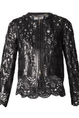Just Cavalli Lamb Leather Jacket