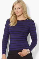 Lauren by Ralph Lauren Zip Shoulders Cotton Sweater - Lyst