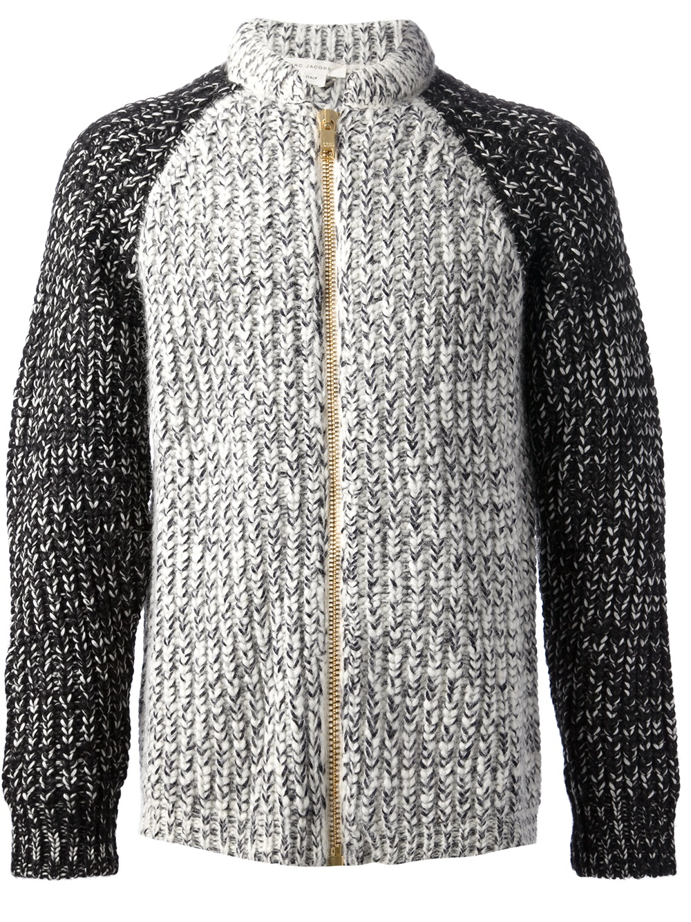 Lyst Marc Jacobs Chunky Knit Cardigan In Gray For Men