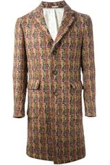 Massimo Alba Patterned Coat - Lyst